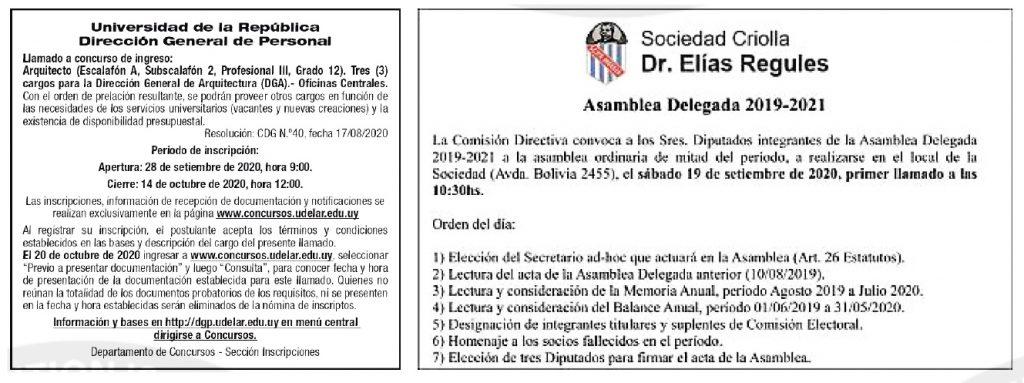 publicar asamblea uruguay