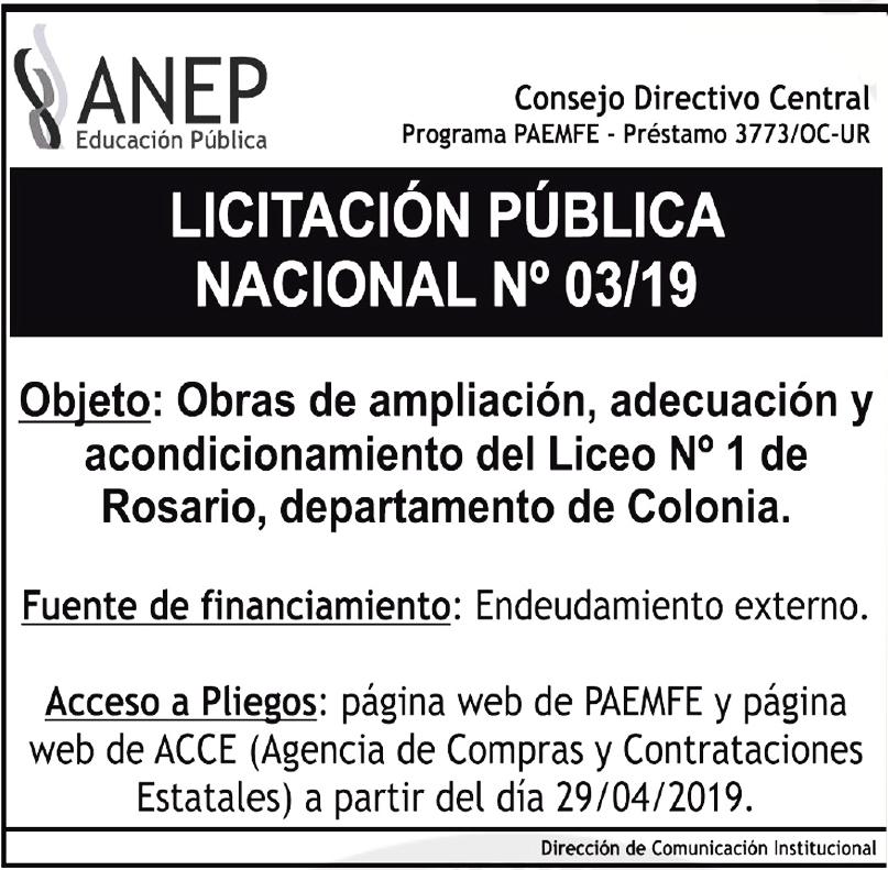 publicar licitacion uruguay