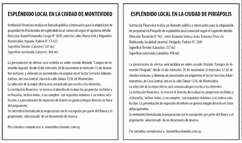 publicar llamado publico uruguay