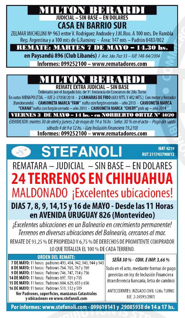publicar remates en uruguay